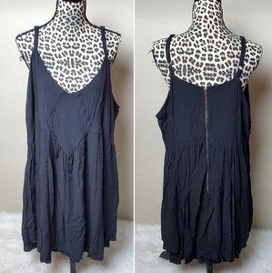 Torrid black swing dress LBD skater sundress 3x